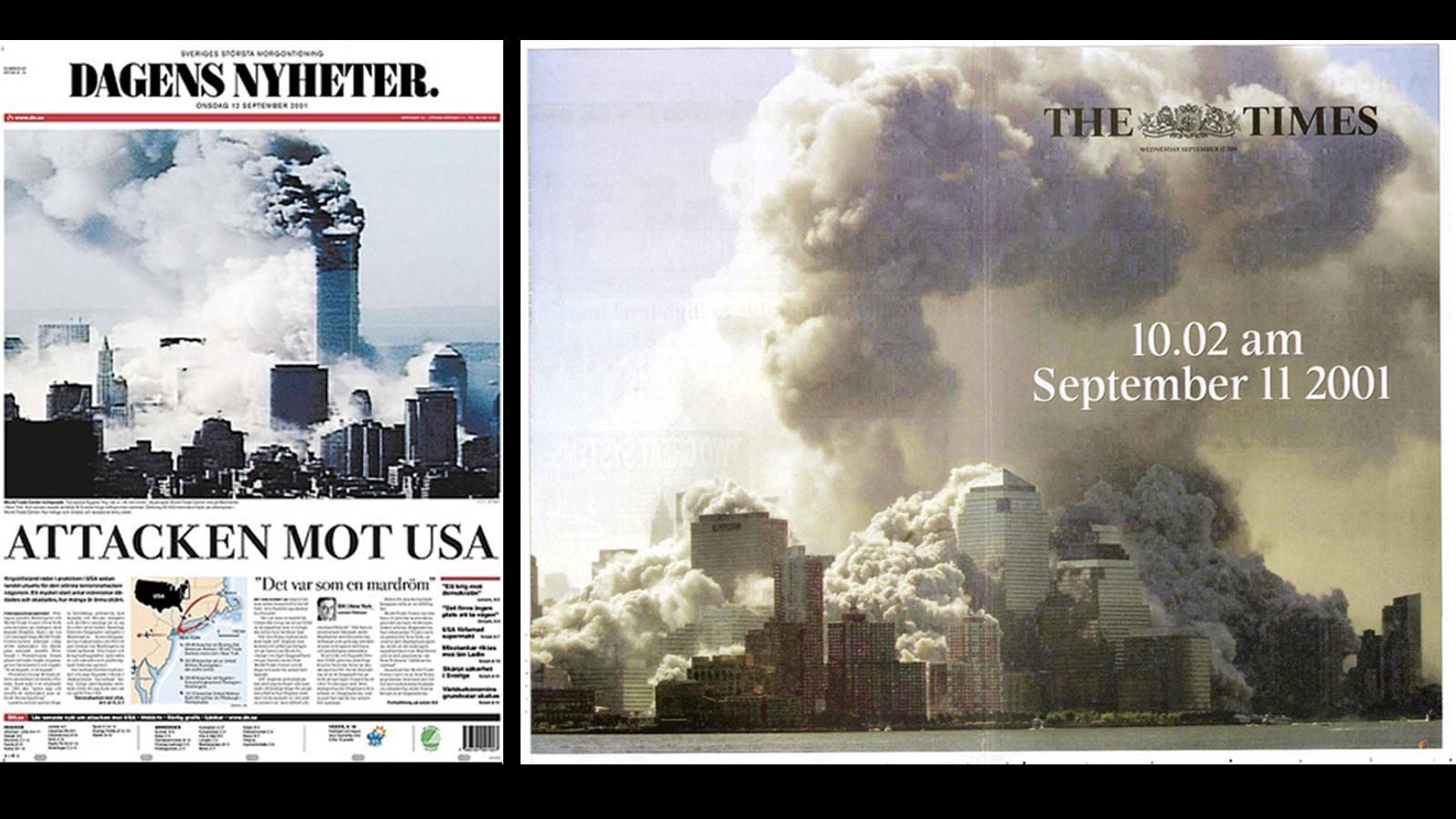 El 11-S en las portadas de todo el mundo - Internacional - ABC.es