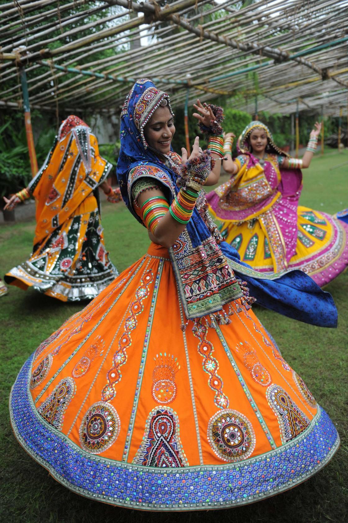 Garba is Indian folk dance from the region of Gujarat, is