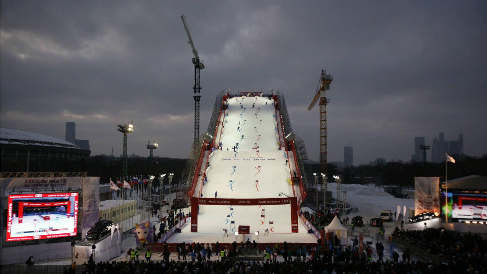 Una carrera de esquí en el centro de Moscú - Deportes ABC - ABC.es